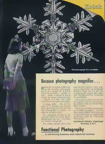 Eastman Kodak Christmas – Photomicrograph of Snowflake (1947)