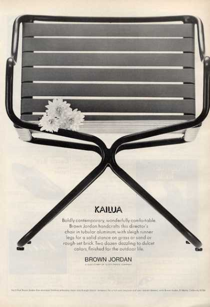 Brown Jordan Kailua Director Fashion Chair (1971)
