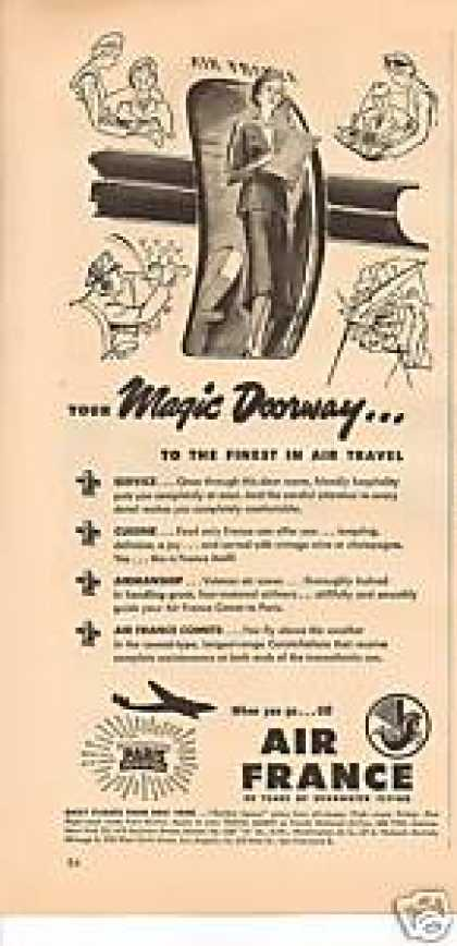 Air France Airlines Magic Doorway (1949)