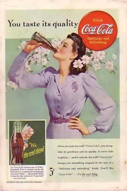 Coke Taste it's Quality (1942)
