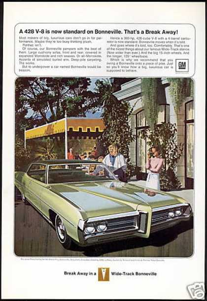 Green Pontiac Bonneville 428 Car AF VK Art (1969)