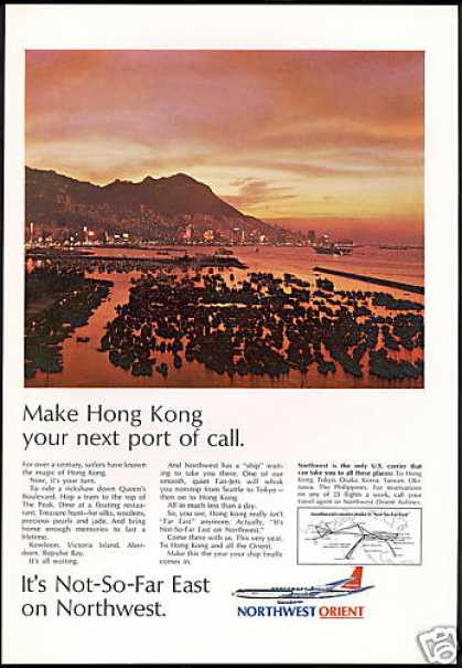 Northwest Orient Airlines Hong Kong (1968)