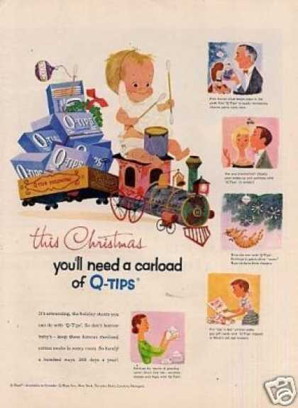 "Q-tips Ad ""This Christmas You'll Need... (1957)"