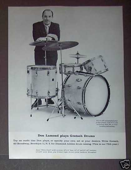 Don Lamond Photo Gretsch Drums (1960)