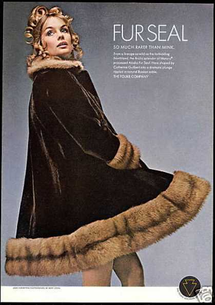 Fouke Seal Fur Coat Jean Shrimpton (1969)