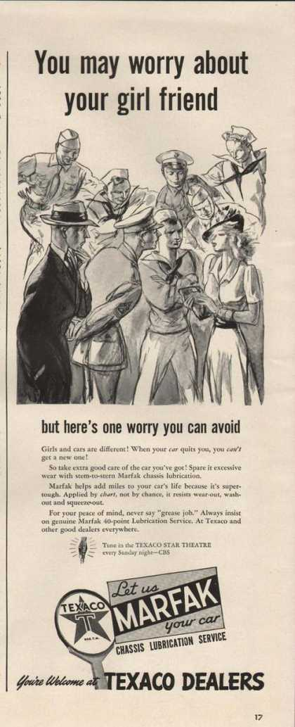 Texaco Dealer Worry Your Girlfriend (1942)
