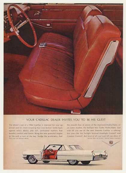 Cadillac Driver's Seat Dealer Invites You (1964)
