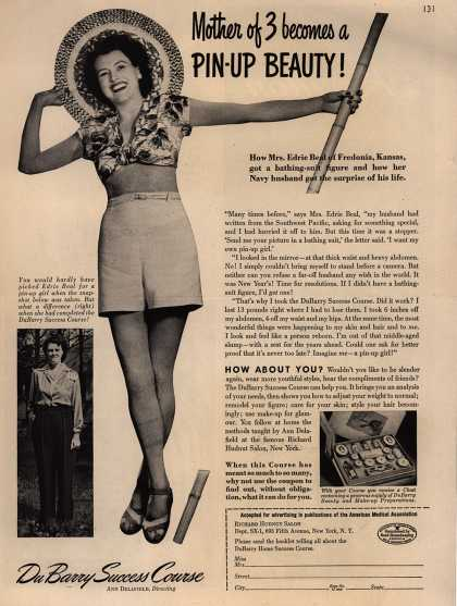 Richard Hudnut's DuBarry Success Course – Mother of 3 becomes a Pin-Up Beauty (1945)