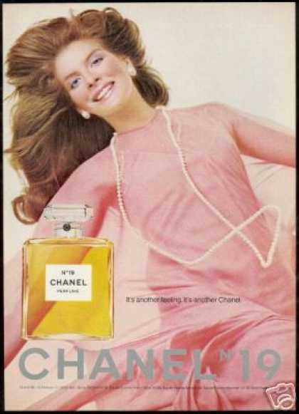 Chanel No 19 Perfume Bottle Pink Dress Photo (1974)