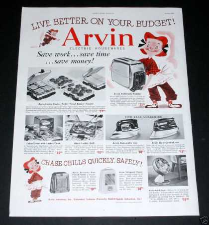 Arvin Electric Housewares (1950)