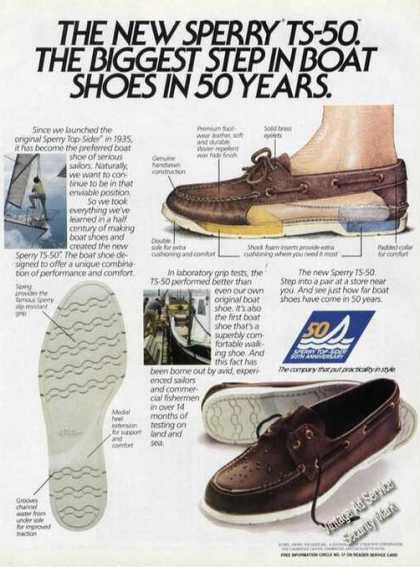 Sperry Ts-50 Boat Shoes Advertising (1985)
