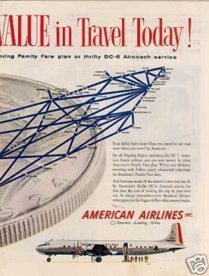 American Airlines Ad Centerfold (1954)