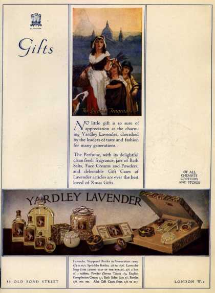 Yardley & Co., Ltd.'s Yardley's Lavender Gifts – Gifts (1931)