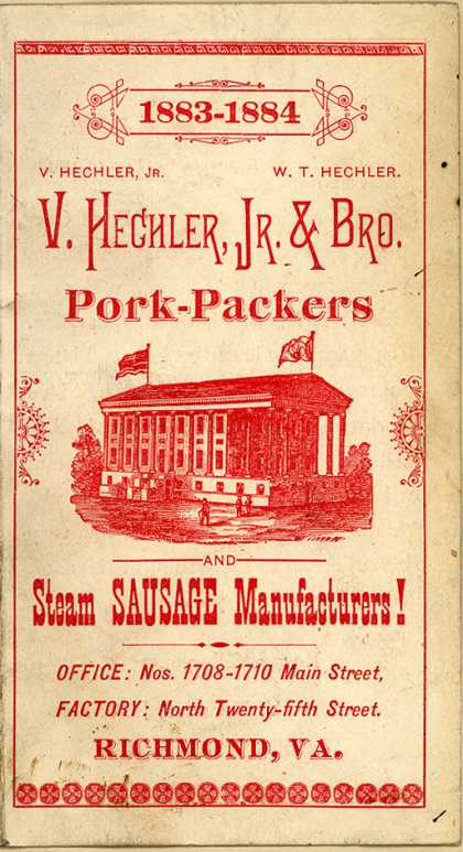 V. Hechler, Jr. & Bro.'s meat products – Pork-Packers
