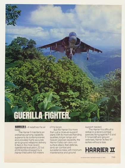 McDonnell Douglas Harrier II Aircraft Photo (1989)