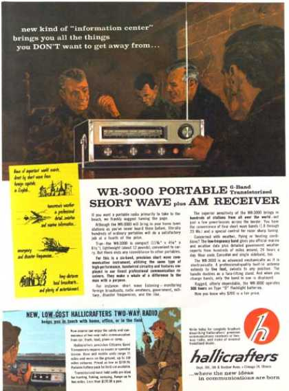 Hallicrafter's WR-3000 Portable 6-Band Transistorized Short-Wave Receiver (1963)