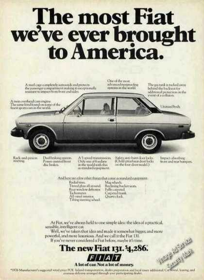 "Fiat 131 ""Most Ever Brought To America"" (1976)"