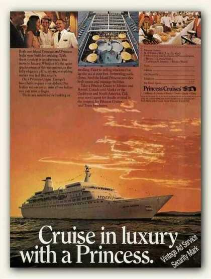 "Island Princess Photo ""Cruise In Luxury"" (1973)"