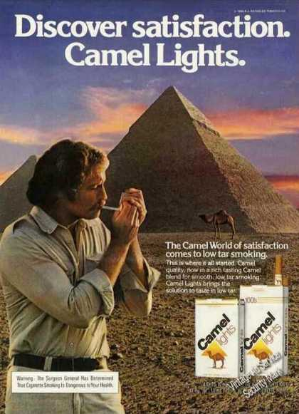 Discover Satisfaction Camel Lights Pyramids (1980)