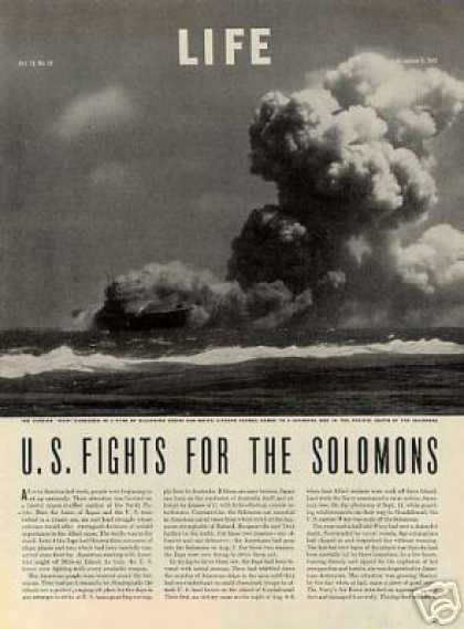 """U.s. Fights for the Solomons"" ~~11 Page Article (1942)"