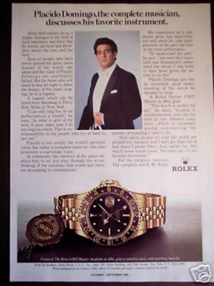Placido Domingo Photo Rolex Gtm-master Watch (1985)