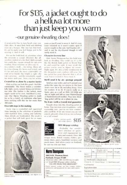 Norm Thompson Alpine Shearling Does Jacket (1972)