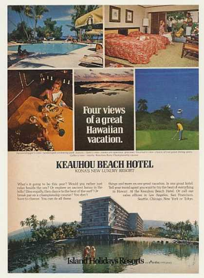 Keauhou Beach Hotel Luxury Resort Hawaii (1971)