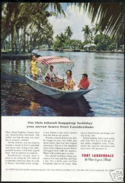 Fort Lauderdale Florida Waterways Travel Photo (1971)