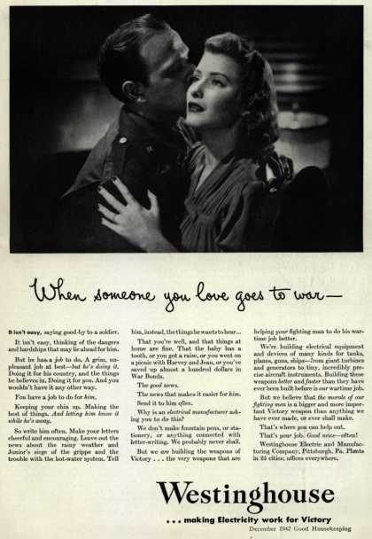 Westinghouse Electric & Manufacturing Company's Corporation – When someone you love goes to war- (1942)