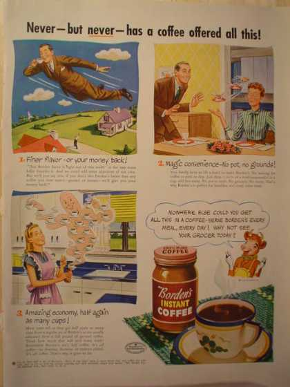 Borden's instant coffee (1947)