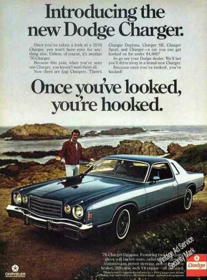Green Dodge Charger By Rocky Coastline (1976)