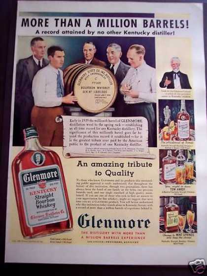 Glenmore Kentucky Whiskey Millionth Barrel (1939)