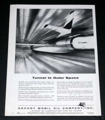 Old , Mobil, Tunnel To Outer Space (1956)