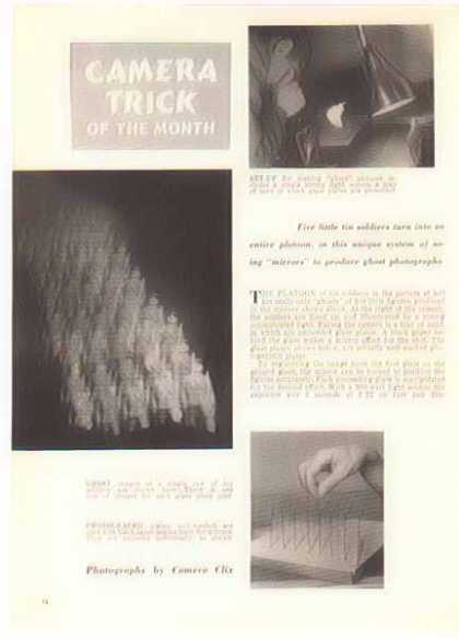 Camera Magazine Article – Ghost Trick Photo Instructions (1951)