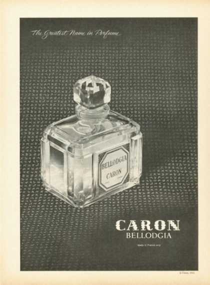 Caron Bellodgia Perfume Bottle Photo (1961)