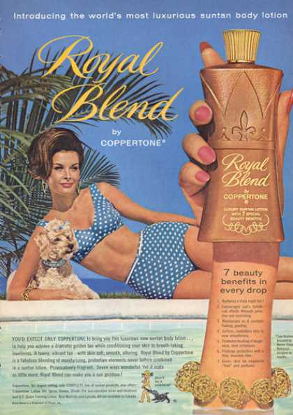 Coppertone Royal Blend Suntan Lotion (1963)