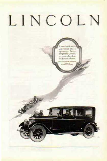 Lincoln Car – Ford Motor Company – Sold (1925)