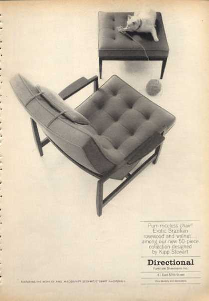 Kipp Stewart Designed Furniture Chair  1960. Vintage Furniture Ads of the 1960s  Page 6