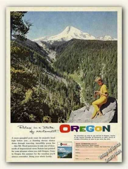 Mt. Hood Color Photo Oregon Travel (1961)