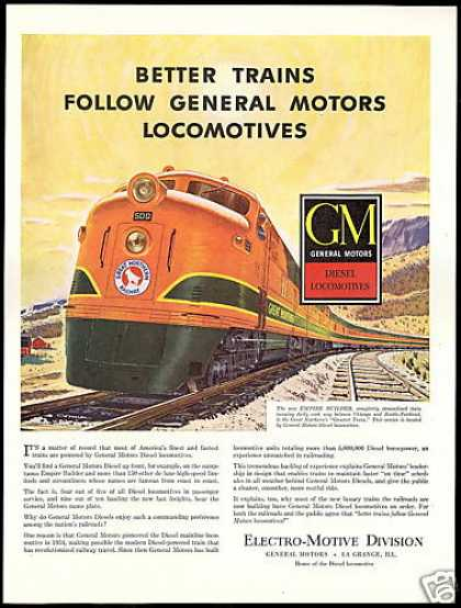 GM Locomotive Great Northern Railway Train (1948)