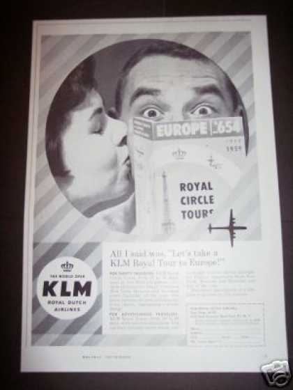 Original Klm Royal Dutch Airlines (1958)