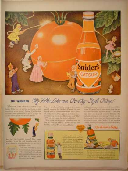 Sniders Catsup City Folks Country Style (1943)