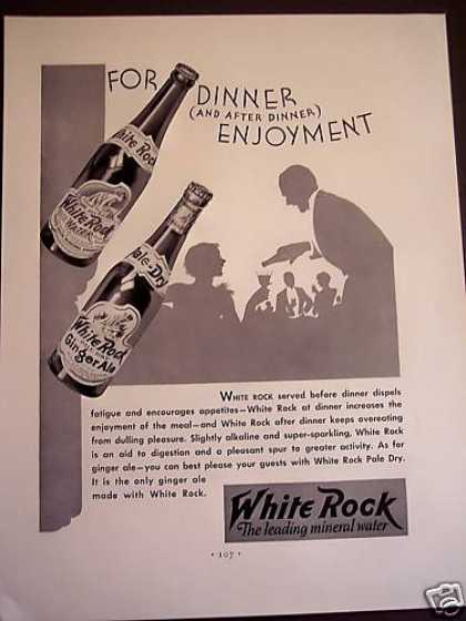 White Rock Mineral Water & Ginger Ale (1932)