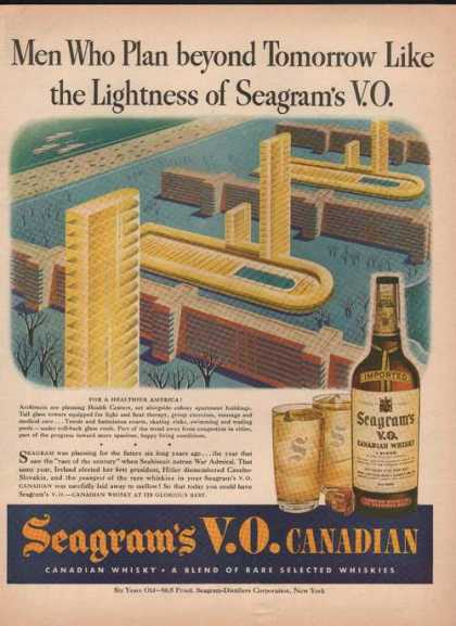Seagrams Vo Canadian Whisky (1944)