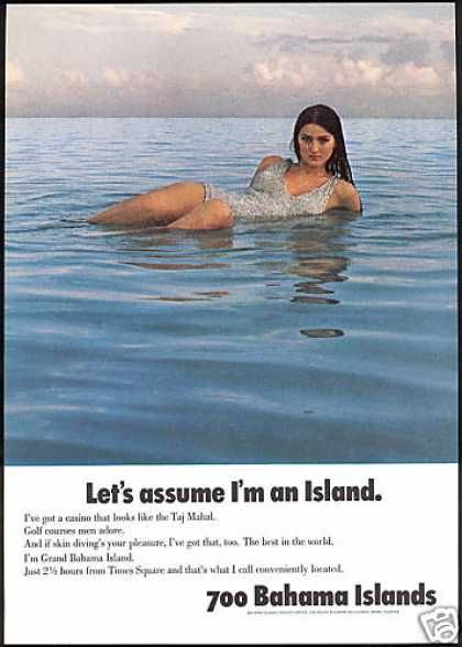 Sexy Wet Woman Bahamas Island Travel (1969)