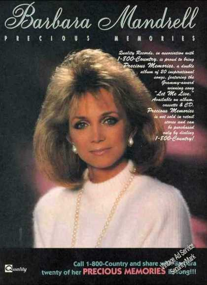 "Barbara Mandrell Photo ""Precious Memories"" (1989)"