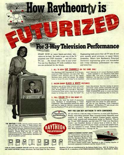 Raytheon Manufacturing Company's Television – How Raytheon tv in FUTURIZED (1951)