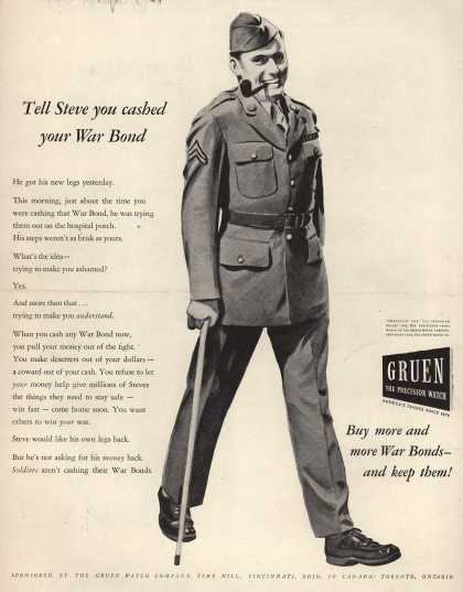 Gruen Watch Company's War Bonds – Tell Steve You Cashed Your War Bond (1944)
