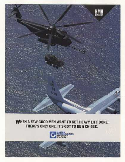 Sikorsky CH-53E Helicopter Heavy Lift Photo (1988)