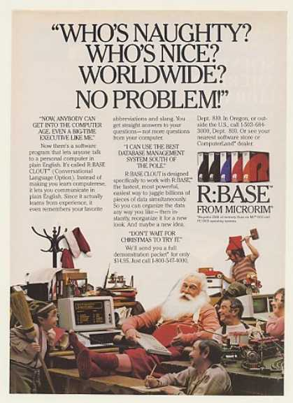 Microrim R:BASE CLOUT Santa Claus (1984)